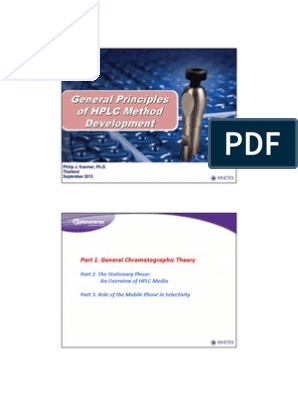 General Principles of HPLC Method Development pdf | High Performance