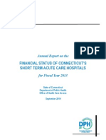 FINANCIAL STATUS OF CONNECTICUT'S SHORT TERM ACUTE CARE HOSPITALS