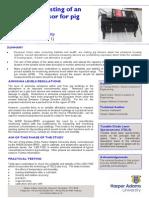 PR 100 Calibration Testing of an Ammonia Sensor for Pig Buildings