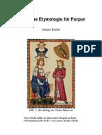Eine neue Etymologie für Purpur