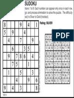 Tuesday's Sudoku