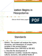 civilization begins in mesopotamia