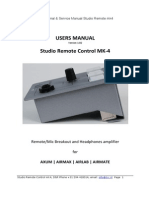 Studio Remote Manual 1.02