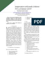 Medidor de Temperatura Utilizando Arduino UNO y El Sensor LM35
