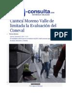 05-12-2014 E-consulta.com - Califica Moreno Valle de Limitada La Evaluación Del Coneval