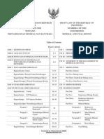 UU Minerba No.4 Tahun 2009_IND-EnG
