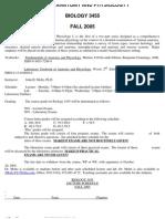 UT Dallas Syllabus for biol3455.501 05f taught by John Moltz (jmoltz)