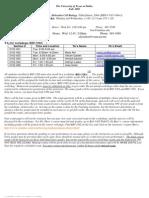 UT Dallas Syllabus for biol3102.005 05f taught by John Burr (burr)