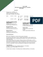 UT Dallas Syllabus for biol1300.501 05f taught by Mayha Truong (mxt013700)