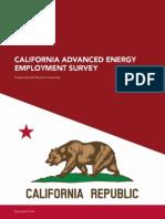 Advanced Energy Employment Survey California