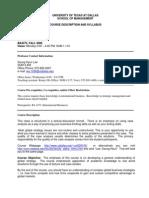 UT Dallas Syllabus for ba4373.001 06f taught by Seunghyun Lee (sxl029100)