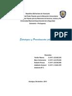 Estrategias y Procedimientos Policiales