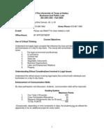 UT Dallas Syllabus for ba2301.003 05f taught by Cynthia Camuel (cxc017130)