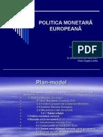 Politica Monetară Europeană