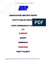 Regional Port Emergency Plan 2012. Version 8. Jun 12. FINAL Amended Jul 13