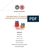 Project- Impingement of HR Outsourcing_2