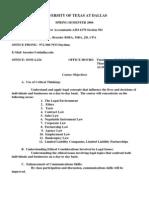 UT Dallas Syllabus for aim6370.501 06s taught by Kenneth Bressler (bressler)