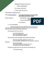 UT Dallas Syllabus for aim6370.501 05s taught by Kenneth Bressler (bressler)