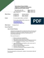 UT Dallas Syllabus for aim6335.og4 06s taught by Charles Solcher (solcher)