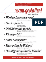 Uni-Wahlen 2015 Studierendenrat Geschichte