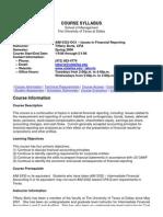 UT Dallas Syllabus for aim6332.0g1 06s taught by Tiffany Bortz (tabortz)