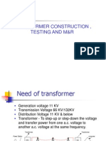 1transformer Construction ,Testing & Maintenance