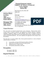 UT Dallas Syllabus for aim4336.002 06s taught by Mark Salamasick (msalam)