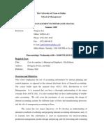 UT Dallas Syllabus for aim3341.521 05u taught by Jiangxia Liu (jxl010300)