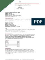 UT Dallas Syllabus for aim3321.001 05f taught by Radha Mookerjee (rvm019000)