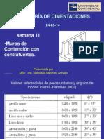 11) ING. CIMENTACIONES - SEMANA 11 (24-05-14)