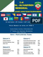 Turpal-Ali Kadyrov Memorial 2014 Results