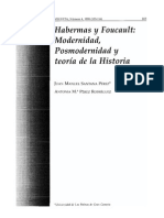 Habermas Foucault Modernidad Posmodernidad de La Historia
