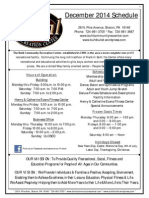 BCRC Dec 2014 Schedule