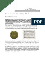 Proyectos para amonedar platino en el reinado de Carlos III