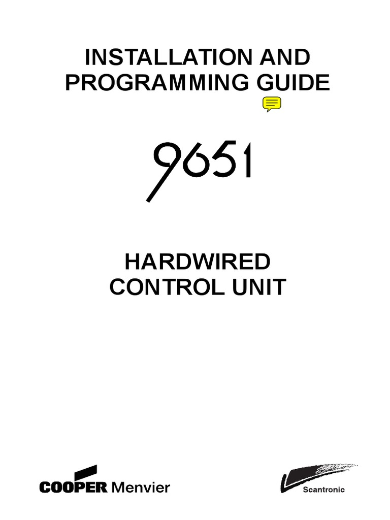 Installation And Programming Guide