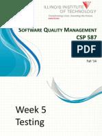 CSP 587 Week 5 - Testing