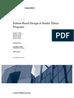 Pattern-Based Design of Insider Threat Programs