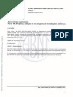 NBR IEC-60079-14-2009- Atmosferas Explosivas - Parte 14 Projeto, Seleção e Montagem de Instalações Elétricas - Errata 1