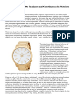 Top Tips For 2013 On Fundamental Constituents In Watches Overview