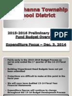 Expenditure Budget 15-16 STSD, Dec. 3 presentation