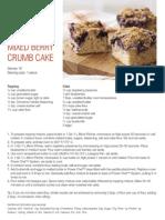 Tupperware MIXED BERRY CRUMB CAKE