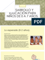 Desarrollo y Educación Para Niños de 0 A