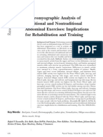 Electromyographic Analysis of Traditional and Non Traditional Abdominal Exercises