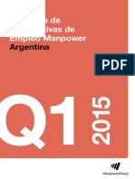 Encuesta de Expectativas de Empleo Argentina Q1/2015