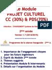 Projet Culturel 2ème année 2014 2015.ppsx