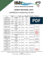 Cronograma Nacional Cab 2015