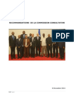 Rapport Final de La Commission Consultative Presidentielle