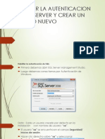 Habilitar La Autenticacion de SQL Server y Crear Nuevo Usuario