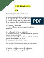 PROCESSO DO TRABALHO-EXERCÍCIOS