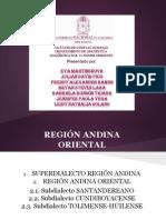 Léxico en la Región Andina Oriental de Colombia